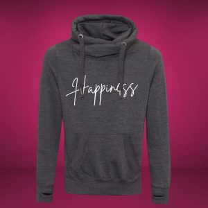 happiness cross neck hoodie