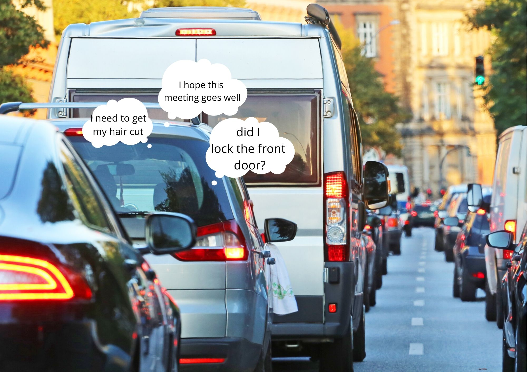 mind full to mindful awareness in traffic