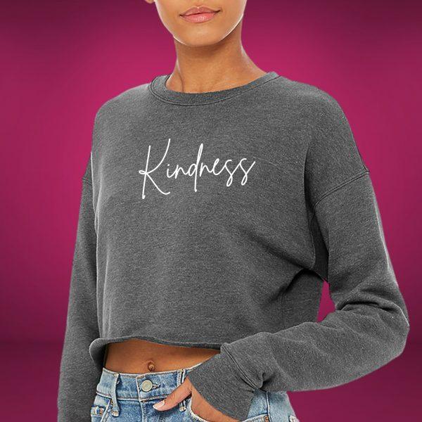 kindness cropped sweatshirt