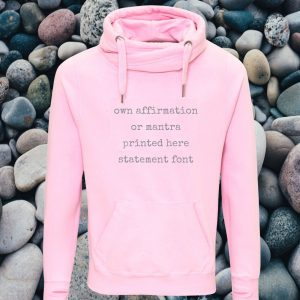 own affirmation cross neck hoodie
