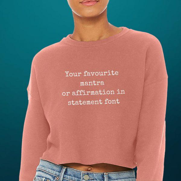 personalised crop sweater