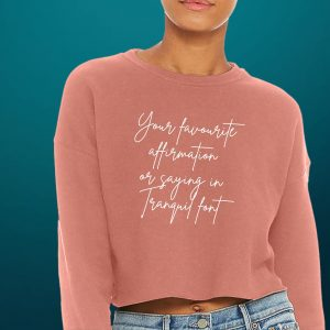 own affirmation cropped sweatshirt