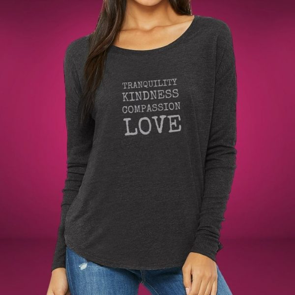 compassion and tranquility long sleeved t-shirt