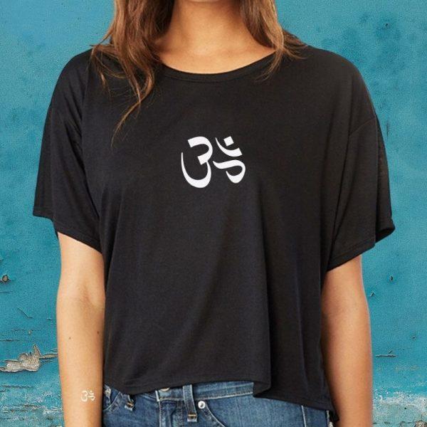 om symbol boxy t-shirt