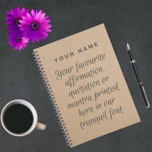 custom notebook tranquil soul