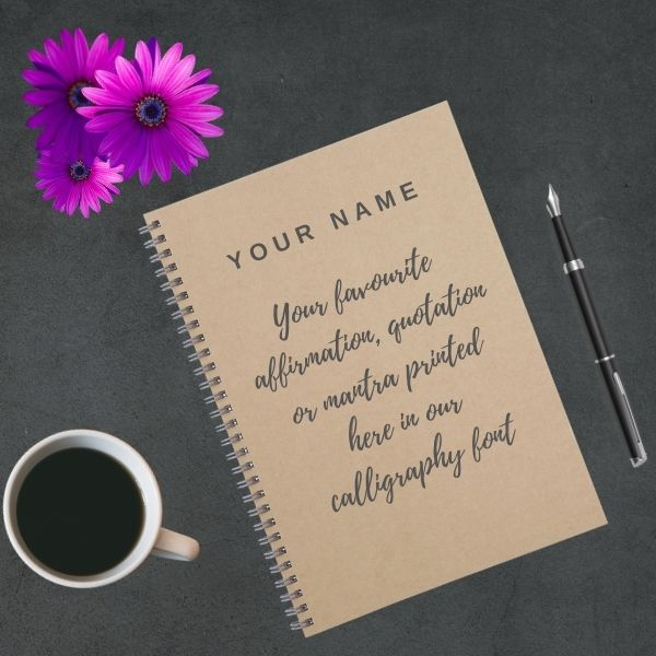 custom notebook calligraphy