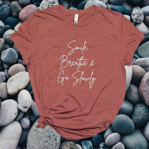 SMILE AND BREATHE CLAY TSHIRT